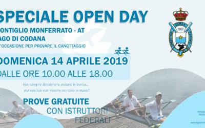 ⚠️⚠️⚠️  RINVIATO CAUSA MALTEMPO ⚠️⚠️⚠️ Open Day Canottaggio – Domenica 14 aprile 2019 – Lago di Codana