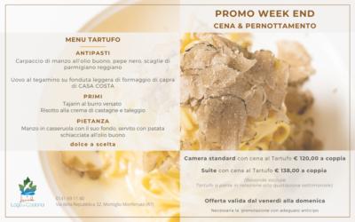 Promo weekend: Cena&Pernottamento – Menu Tartufo